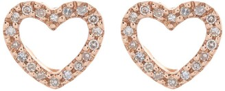 Ron Hami 14K Rose Gold Diamond Heart Shape Stud Earrings - 0.10 ctw