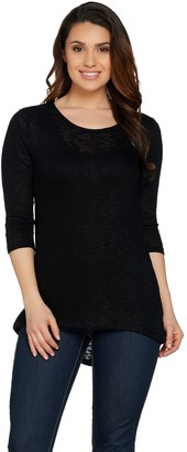 Lisa Rinna Collection 3/4 Sleeve Top with Back Detail