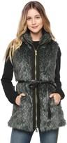Juicy Couture Speckled Fur Vest