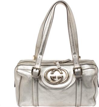 Gucci Metallic Gold Leather Dialux Britt Boston Bag