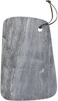 Bloomingville - Marble Cutting Board with Leather Strap - Grey