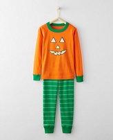 Kids Glow In The Dark Long John Pajamas In Organic Cotton