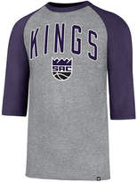 '47 Men's Sacramento Kings Zone Raglan Three-Quarter Sleeve T-Shirt