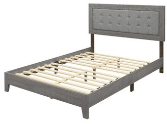Laurel Foundry Modern Farmhouse Gustavo Tufted Low Profile Platform Bed Size: King