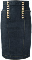 DSQUARED2 Livery denim pencil skirt - women - Cotton/Spandex/Elastane - 36
