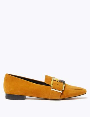 AutographMarks and Spencer Suede Buckled Square Toe Loafers
