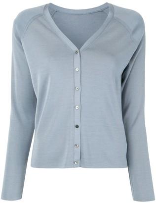 TOMORROWLAND Raglan-Sleeves Silk Cardigan