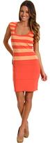 Calvin Klein Stripe Scoop Neck Dress
