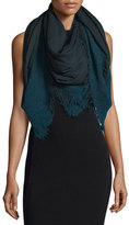 Faliero Sarti Isadora Wool-Blend Ombre Scarf, Blue/Gray