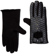 David & Young Faux Leather Studded Gloves