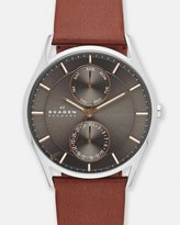 Skagen Holst Multifunction Leather Watch