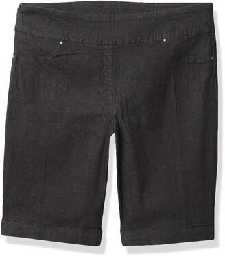 Ruby Rd. Women's Petite Pull-on Extra Stretch Cuffed Denim Short