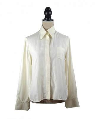 Celine White Silk Tops