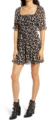 Rowa Ruched Waist Tiered Minidress