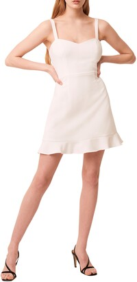 French Connection Whisper Ruffle Hem Sleeveless Fit & Flare Dress