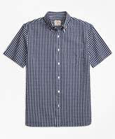 Brooks Brothers Check Cotton Seersucker Short-Sleeve Sport Shirt