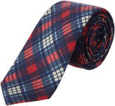 Ben Sherman Navy & Red Plaid Wool Tie