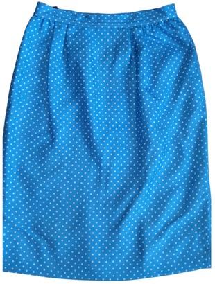 Valentino Blue Silk Skirt for Women Vintage