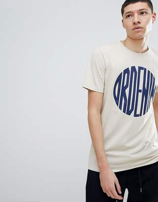 Dr. Denim patrick logo t-shirt beige sphere