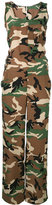 P.A.R.O.S.H. Simetic camouflage jumpsuit - women - Silk - XS