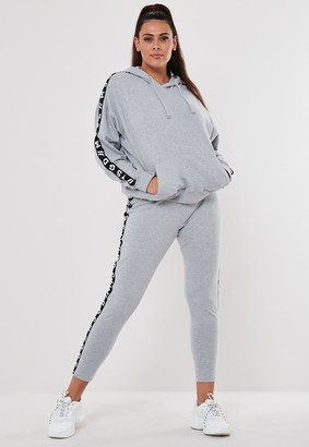 Missguided Plus Size Active Grey Co Ord Msgd Loungewear Leggings