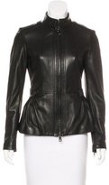 Burberry Leather Peplum Jacket