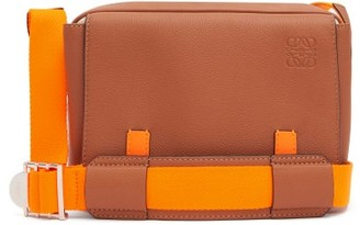 Loewe Paula's Ibiza - Military Small Leather Messenger Bag - Brown