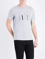 Paul Smith Mens Grey Printed Modern Short Sleeve T-shirt