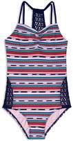 Gossip Girl Girls' Desert Stripe Swimsuit