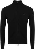 Giorgio Armani Jeans Full Zip Jumper Black