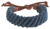J.Crew Braided rope-and-leather bracelet