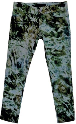 Barbara Bui Green Cotton - elasthane Jeans for Women