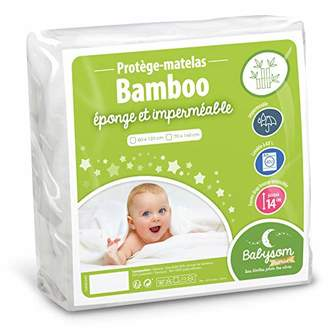 Camilla And Marc Babysom Bamboo Waterproof Mattress Protector 60 x 120 cm Soft and Breathable Terry Towelling