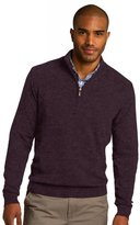 Port Authority Men's 1/2 Zip Sweater L Heather Burgundy
