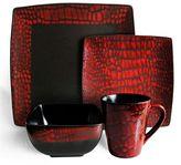 American Atelier Boa Red 16-pc. Dinnerware Set