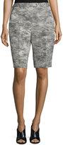 Jason Wu Mid-Rise Bermuda Shorts, Charcoal