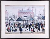 John Lewis L. S. Lowry - Market Scene, Northern Town Framed Print, 80 x 64cm