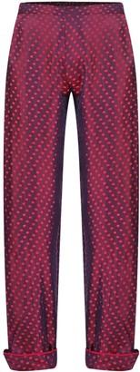 Gisy Clacie Silk Pajama Pants Plum