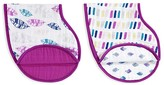 Aden and Anais Infant Girls' Combo Bib/Burp Cloth 2 Pack