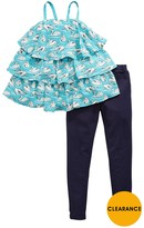 Very Girls Printed Tiered Top And Jeggings Set