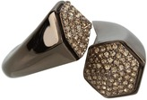 Vince Camuto - Twisted Pave Ring (Brown) - Jewelry