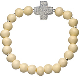 Jacqueline Pinto White Bone Bead All My Faith Is In You Bracelet