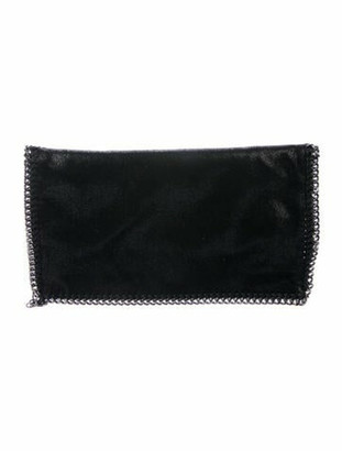Stella McCartney Falabella Fold-Over Clutch Black