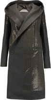 Rick Owens Sequined wool-blend felt hooded coat