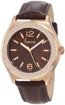 Freelook Women's HA1213RG-2 Rg Case Sunray Brown Dial Swarovski Bezel Watch