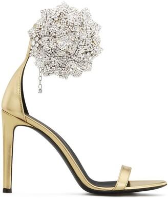 Giuseppe Zanotti Fleur crystal-embellished sandals