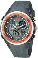 Skechers Men's '4-Pusher Ana-Digi' Quartz Plastic Casual Watch, Color:Black (Model: SR1081)