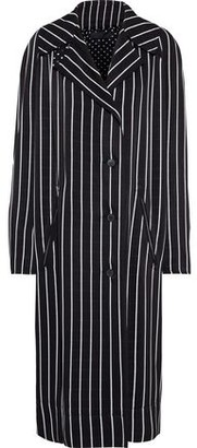 Haider Ackermann Oversized Striped Sateen Coat