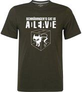 FunTor Schrodinger Cat Men's T-Shirt (XXL, )