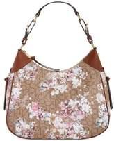 Calvin Klein Womens Hudson Leather Adjustable Hobo Handbag